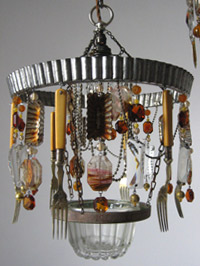 Rust Bucket chandelier