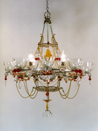 8-cup chandelier