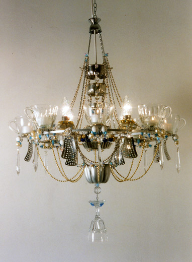 Chandeliers by Madeleine Boulesteix:8-cup chandelier,Lighting
